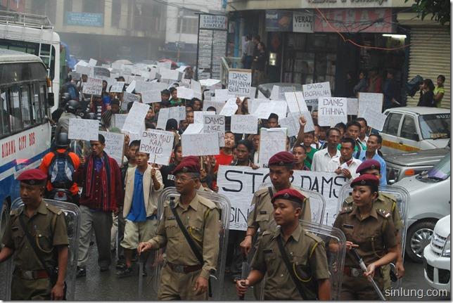 SHDC Mizoram Anti Dam Protest 5