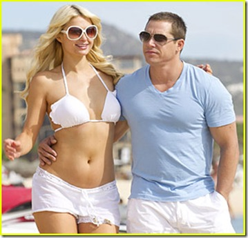 Paris Hilton and boyfriend Cy Waits in Mexico for New Years on Dec. 30 2010. EXCLUSIVE COVERAGE, NO TABLOID USE  .