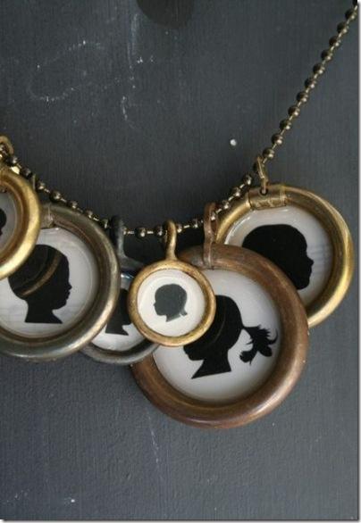custom silhoutte pendant - luckymebeads