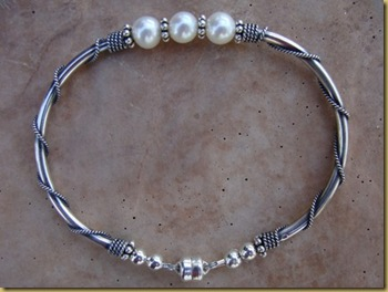 silver with pearls