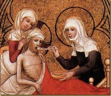 StElizabethClothesthePoorandTendstheSick,byUnknown,1390s