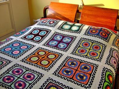 Square Windows Bedspread