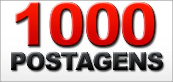 Chegamos à incrível marca de 1.000 postagens publicadas!