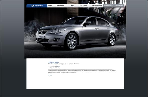 Hyundai Equus e Genesis aparecem no site oficial da marca no Brasil