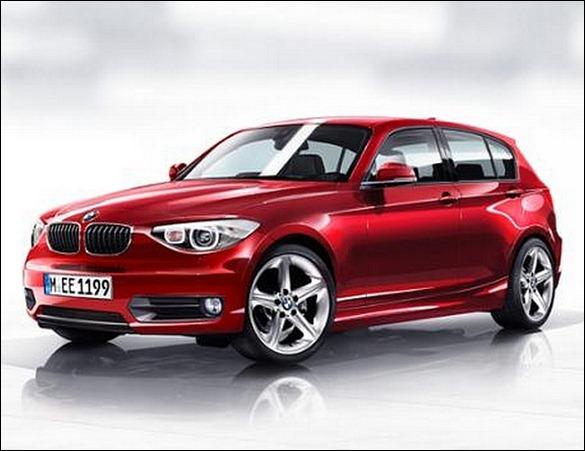 Projeção reveladora do BMW Série 1 2012