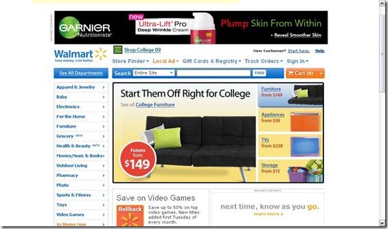 Walmart College ad 7.11.2009