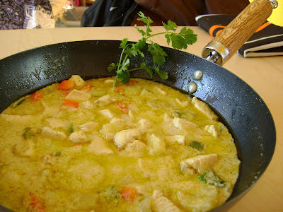 Pollo al curry verde tailandes