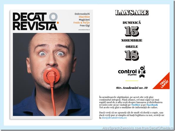 Decat o Revista poster lansare