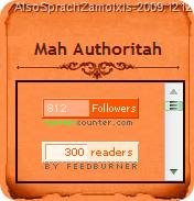 Mah Authoritah - Also Sprach Zamolxis (2009.12.12)