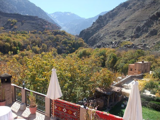 View from the terrace of Kasbah Du Toubkal