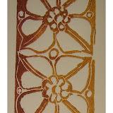 « Détail de la tribune du prieuré de (F66) Serrabonne » linogravure 5×15cm 10€
