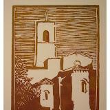 « Chevet ND Romigier F 04 Manosque » gravure/bois 15×20cm 40€