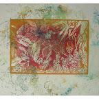 biodiversité n°2 sur papier d'emballage linogravure 25x30cm