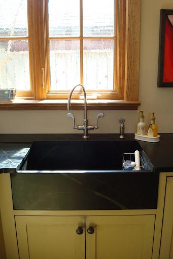 Glued Up Slab Built Soapstone Sink