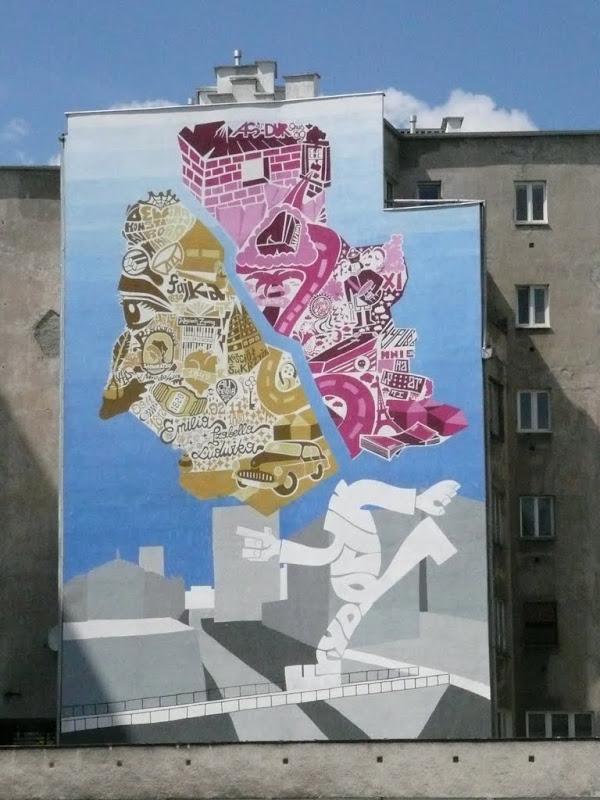Warszawa w obiektywie frycek na murach for Mural warszawa 44