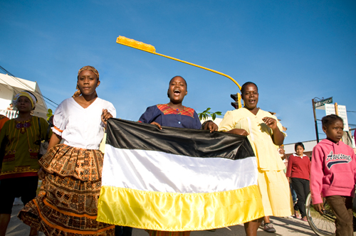 Garifuna Day celebrations on Main Street, Orange Walk Town.