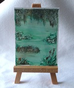 Swamp on wooden easle