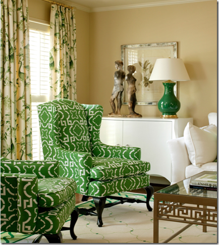 designer tobi fairley green living room