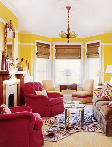 1000 images about walls paint beadboard chair rails on for Red and yellow living room ideas