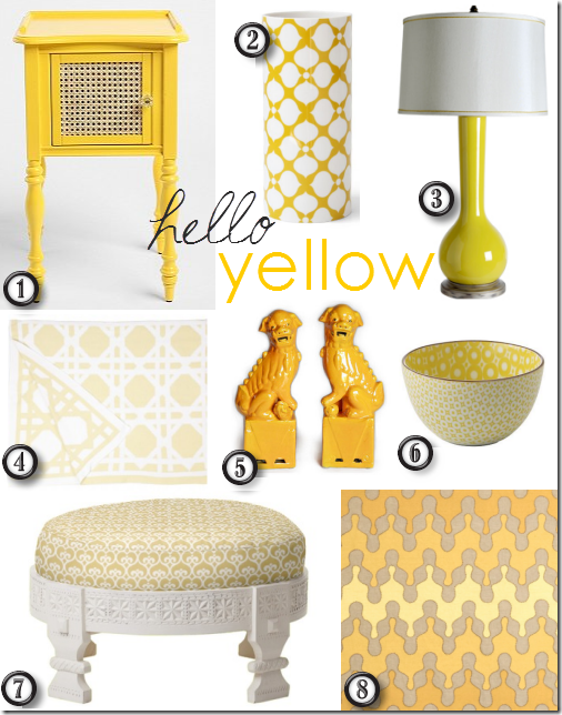 stylish yellow home decor accessories