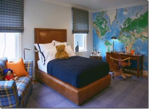 boys bedroom world map wall designer