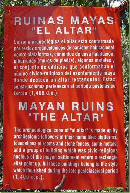 cartello rovine maya giardino botanico