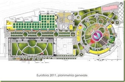 mappa euroflora 2011 genova planimetria esposizione piante