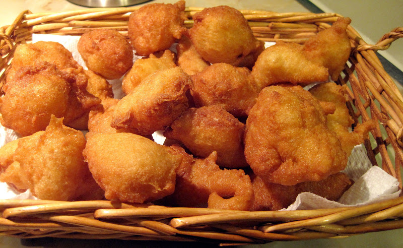Finished, savory, zeppole - how to make zeppole