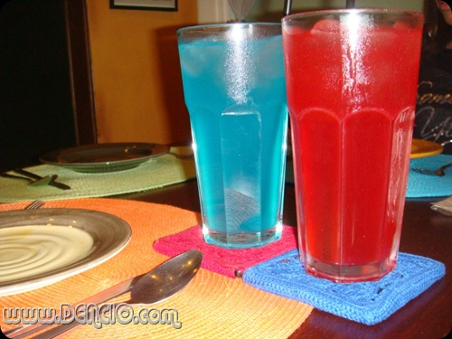 Blue Lemonade and Red Iced Tea: Php50