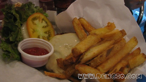 Black Angus Burger with Fries P175