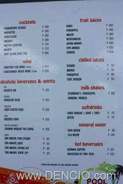 Poro Point Pool Bar Menu1