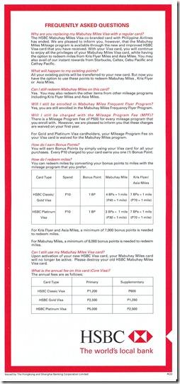 HSBC No More Mabuhay Miles FAQ