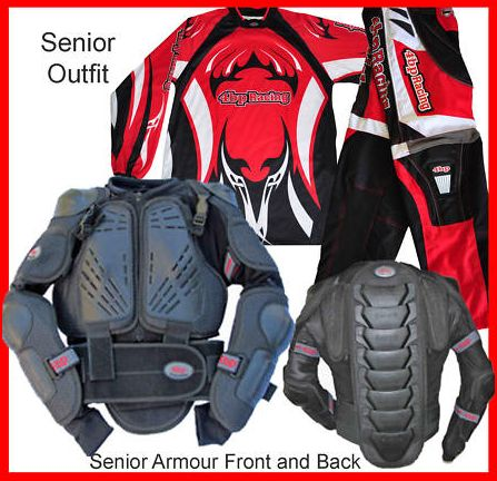 Senior Motocross Riding Gear Body Armour Accessories Pack