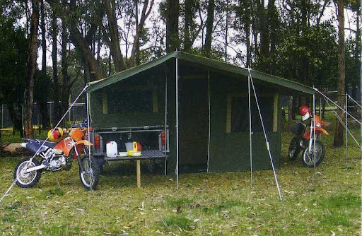 Motor Bike Camper Trailer Offroad with tent