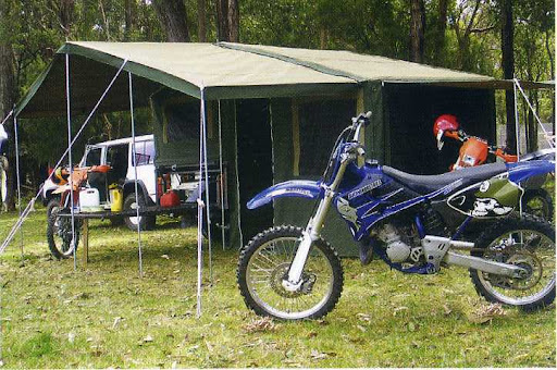 Motorbike Camper Trailer and Tent