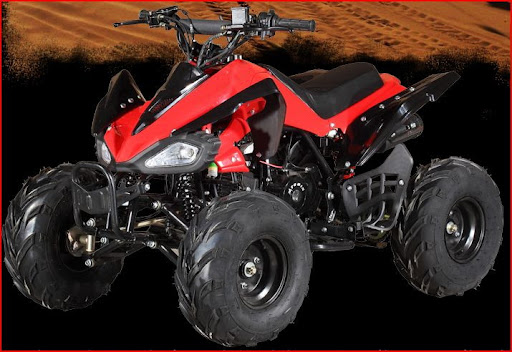 110cc Raptor Style Junior Kids Quad Bike -Red