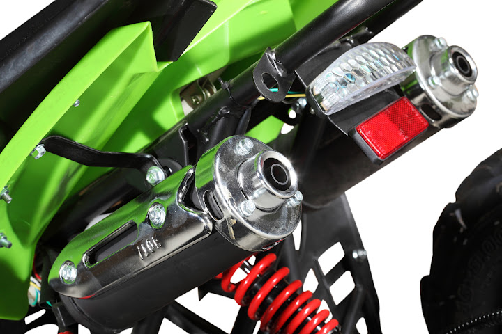 110cc Raptor Junior Kids Quad Dual Twin Muffler Exhaust