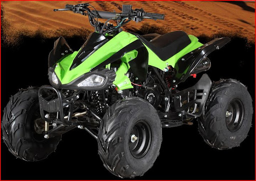 110cc Raptor Junior Kids Quad Bike Green & Black
