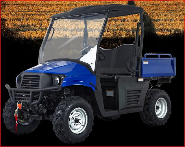 400cc 4x4 Farm Utility Vehicle UTV - Blue