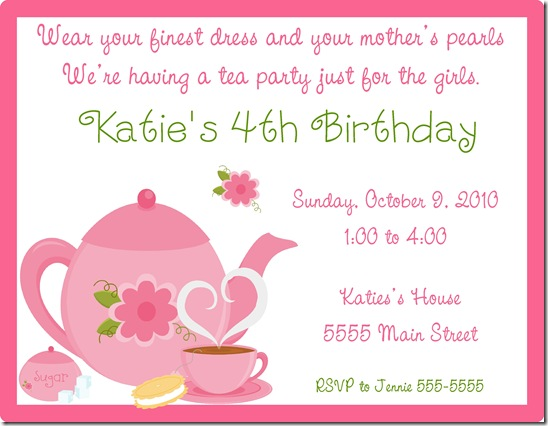 Tea Party Invite