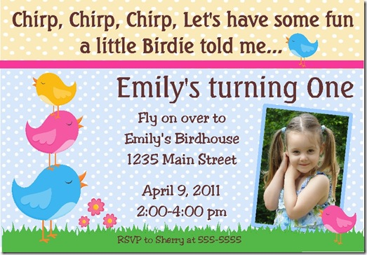 Bird invite