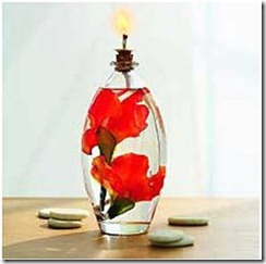 gladiolus oil lamp