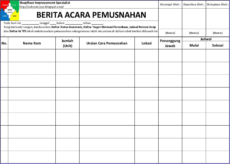 Contoh Berita Acara Evaluasi Dokumen Kualifikasi Rinatoh