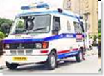 EMRI ambulance van in Goa