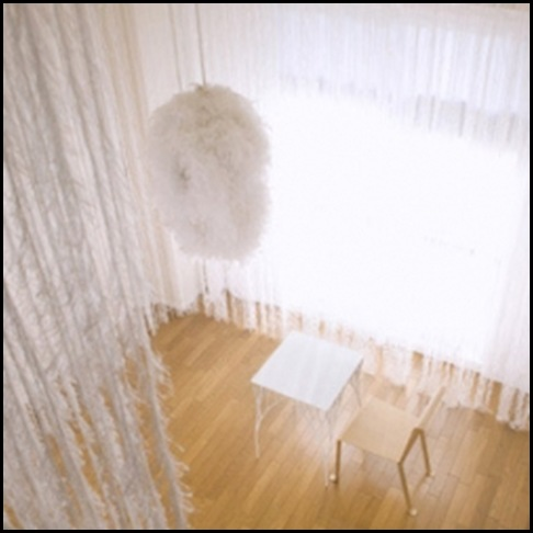 feather curtain