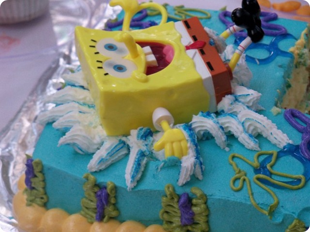 Sponge Bob Splash Cake 1