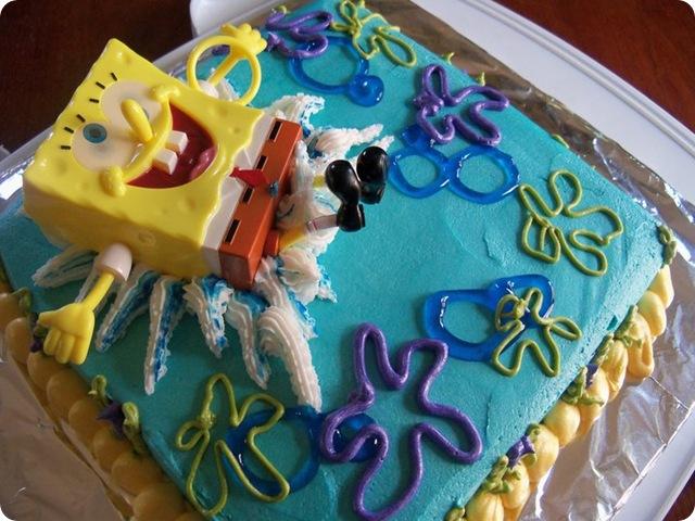 Sponge Bob Splash Cake 6