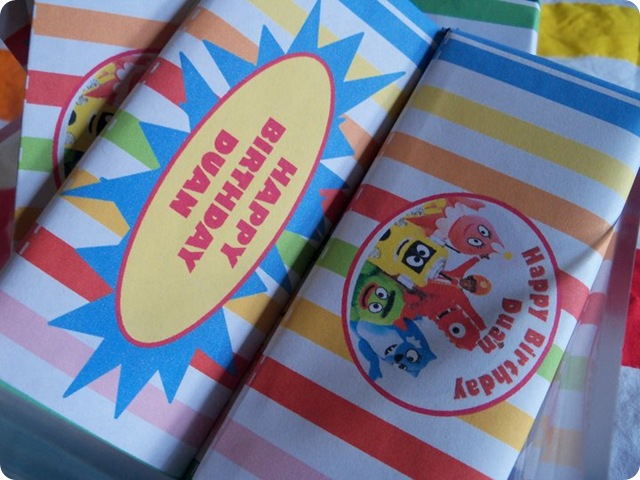 Yo Gabba Gabba Custom Candy Bar Envelopes