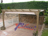 Toldo de patio con doble porteria