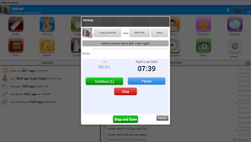 Screenshot of Baby Connect (activity logger)